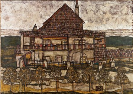 Schiele, Egon: House with Shingle Roof (Old House II). Fine Art Print/Poster. Sizes: A4/A3/A2/A1 (003683)